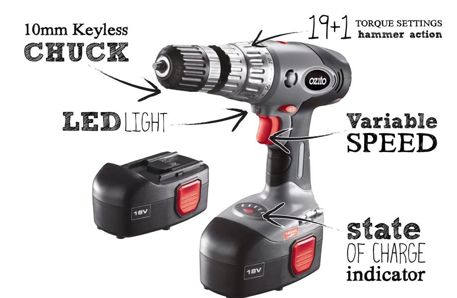 18 volt cordless drill